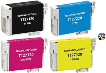 T127120 127 T127 Extra High Yield Black Printer REMAN Ink Cartridge for Epson