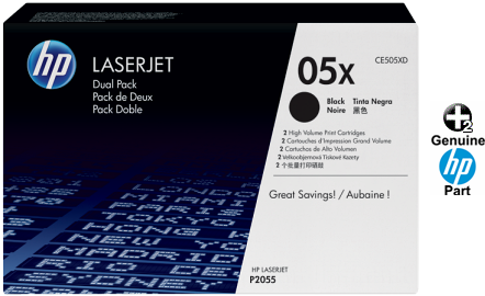 10PK CE505X High Yield Black Laser Toner Cartridge for HP P2055d P2055dn P2055X