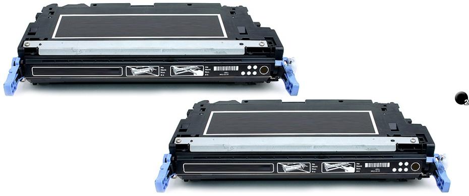 2PK Q6470A Black Toner for Color Laserjet 3600DN 3600N